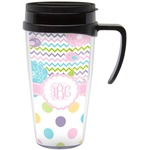 Girly Girl Travel Mug with Handle (Personalized)
