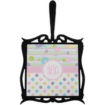 Girly Girl Trivet with Handle (Personalized)