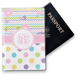 Girly Girl Vinyl Passport Holder (Personalized)