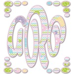 Girly Girl Monogram Decal - Custom Sized (Personalized)