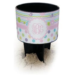 Girly Girl Black Beach Spiker Drink Holder (Personalized)