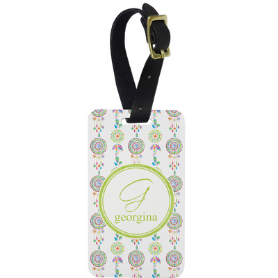 Dreamcatcher Metal Luggage Tag w/ Name and Initial