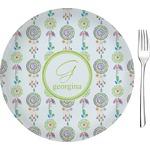 "Dreamcatcher Glass Appetizer / Dessert Plates 8"" - Single or Set (Personalized)"