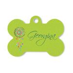 Dreamcatcher Bone Shaped Dog ID Tag (Personalized)