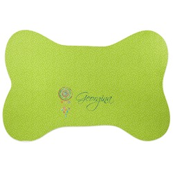 Dreamcatcher Bone Shaped Dog Food Mat (Personalized)