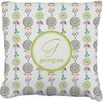 Dreamcatcher Faux-Linen Throw Pillow (Personalized)