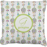 Dreamcatcher Faux-Linen Throw Pillow (Personalized)