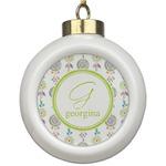 Dreamcatcher Ceramic Ball Ornament (Personalized)