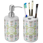 Dreamcatcher Bathroom Accessories Set (Ceramic) (Personalized)