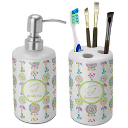 Dreamcatcher Bathroom Accessories Set (Ceramic) (Personalized)