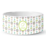 Dreamcatcher Ceramic Dog Bowl (Personalized)