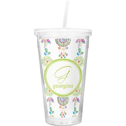 Dreamcatcher Double Wall Tumbler with Straw (Personalized)