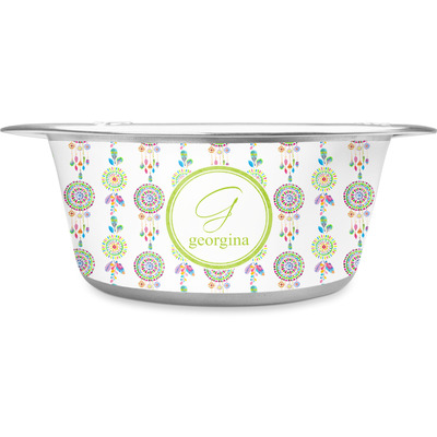 Dreamcatcher Stainless Steel Dog Bowl (Personalized)