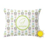 Dreamcatcher Outdoor Throw Pillow (Rectangular) (Personalized)