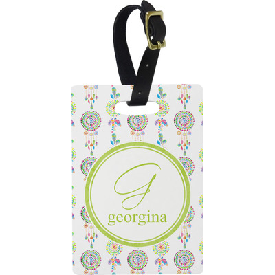 Dreamcatcher Rectangular Luggage Tag (Personalized)
