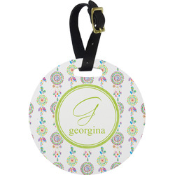 Dreamcatcher Round Luggage Tag (Personalized)