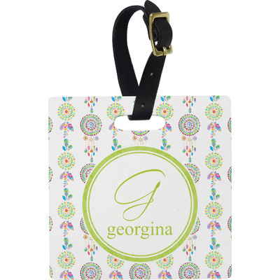 Dreamcatcher Square Luggage Tag (Personalized)