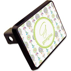 """Dreamcatcher Rectangular Trailer Hitch Cover - 2"""" (Personalized)"""