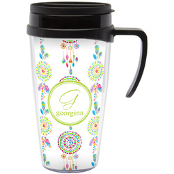 Dreamcatcher Travel Mug with Handle (Personalized)
