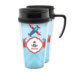 Airplane Theme Acrylic Travel Mugs (Personalized)