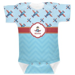 Airplane Theme Baby Bodysuit (Personalized)