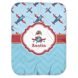 Airplane Theme Baby Swaddling Blanket (Personalized)
