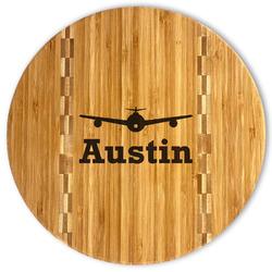 Airplane Theme Bamboo Cutting Board (Personalized)