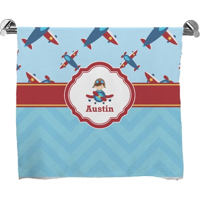 Airplane Theme Full Print Bath Towel (Personalized)
