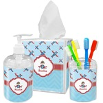 Airplane Theme Bathroom Accessories Set (Personalized)