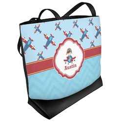 Airplane Theme Beach Tote Bag (Personalized)