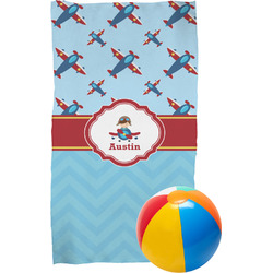 Airplane Theme Beach Towel (Personalized)