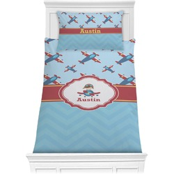 Airplane Theme Comforter Set - Twin XL (Personalized)