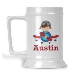 Airplane Theme Beer Stein (Personalized)