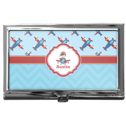 Airplane Theme Business Card Case
