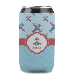 Airplane Theme Can Sleeve (12 oz) (Personalized)