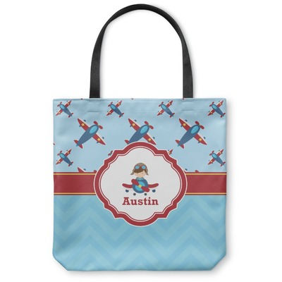 Airplane Theme Canvas Tote Bag (Personalized)