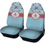 Airplane Theme Car Seat Covers (Set of Two) (Personalized)