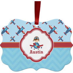 Airplane Theme Ornament (Personalized)