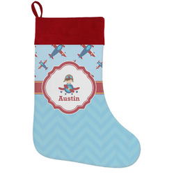 Airplane Theme Holiday / Christmas Stocking (Personalized)