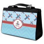 Airplane Theme Classic Tote Purse w/ Leather Trim (Personalized)