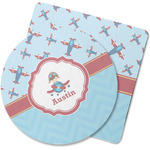 Airplane Theme Rubber Backed Coaster (Personalized)