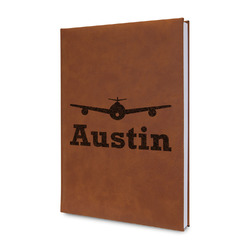 Airplane Theme Leatherette Journal (Personalized)
