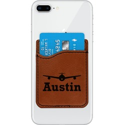 Airplane Theme Leatherette Phone Wallet (Personalized)