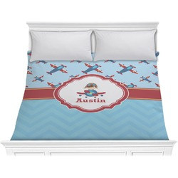 Airplane Theme Comforter - King (Personalized)