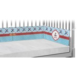 Airplane Theme Crib Bumper Pads (Personalized)