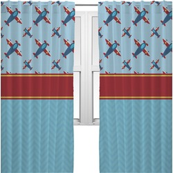 Airplane Theme Curtains (2 Panels Per Set) (Personalized)