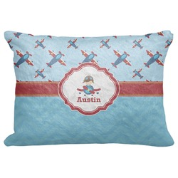 "Airplane Theme Decorative Baby Pillowcase - 16""x12"" (Personalized)"