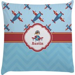 Airplane Theme Decorative Pillow Case (Personalized)