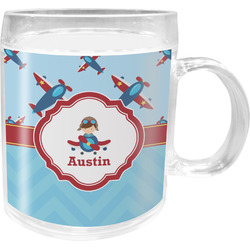 Airplane Theme Acrylic Kids Mug (Personalized)