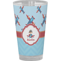 Airplane Theme Drinking / Pint Glass (Personalized)